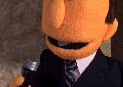 Talkshow host puppet