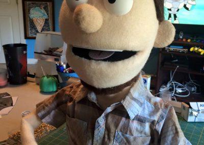 Caricature puppet
