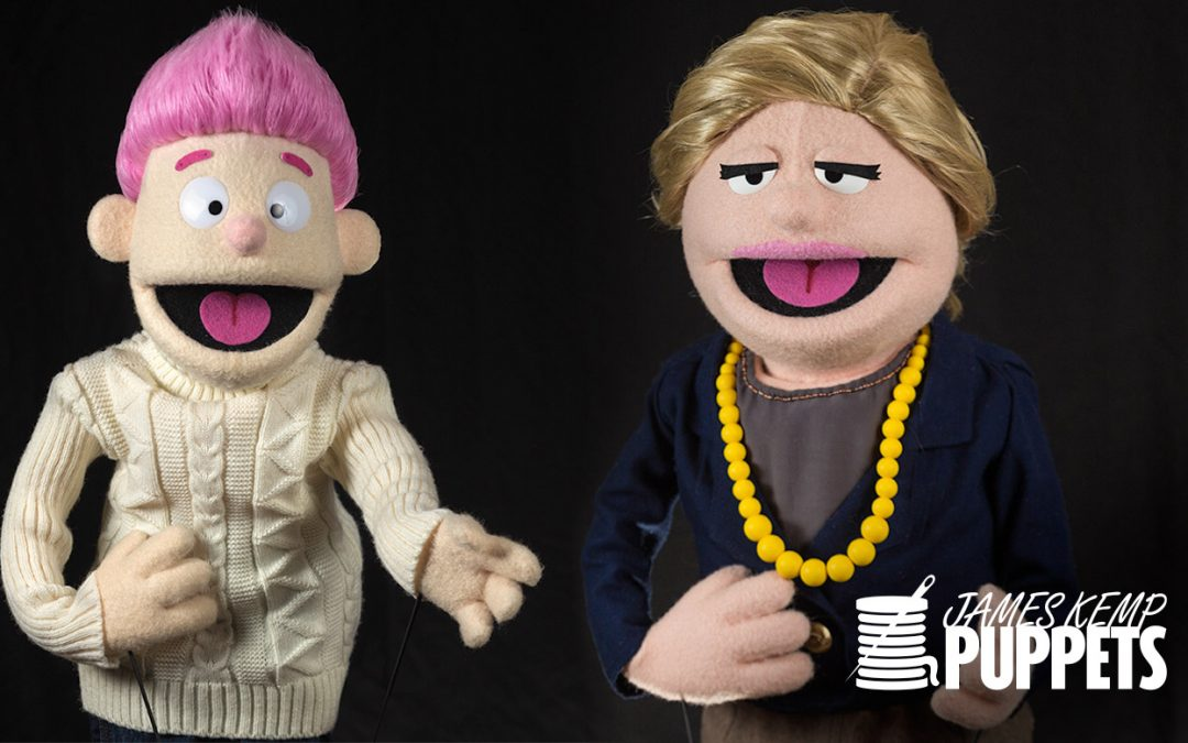 Crash and Prime Minister of Norway Puppets