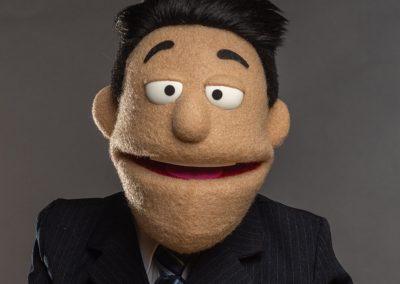 Car Salesman Custom Puppet Photo