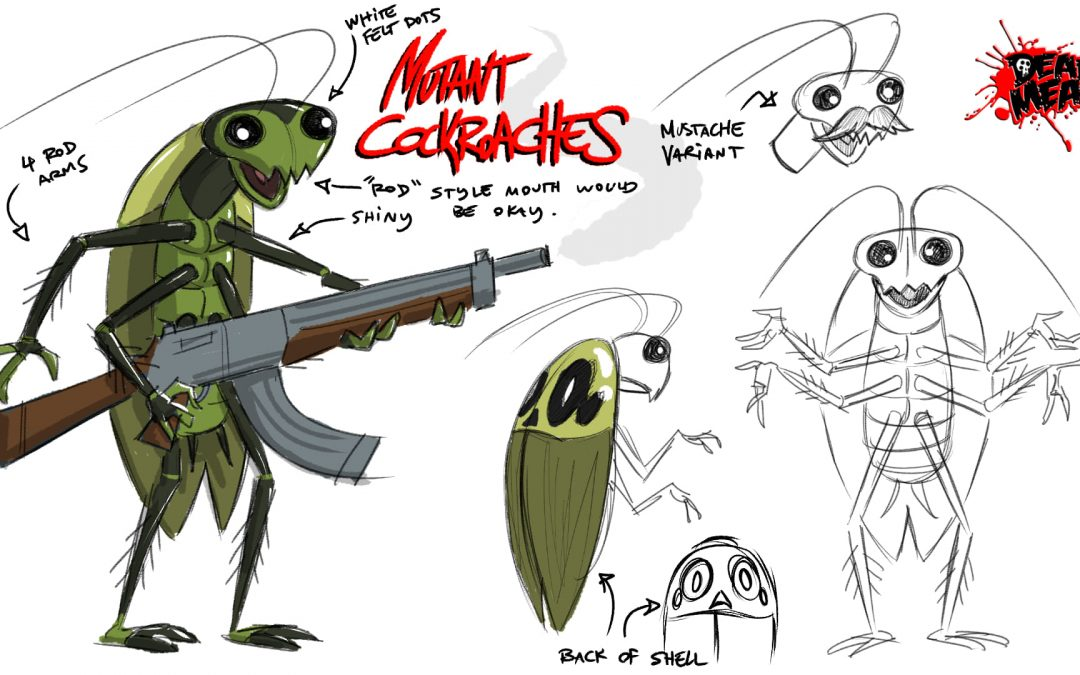 """Mutant Cockroach for """"The Grim Adventures of Billy and Mandy"""" creator Maxwell Atoms"""